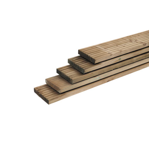 Planche de terrasse en sapin imprégné 180 x 14,5 cm