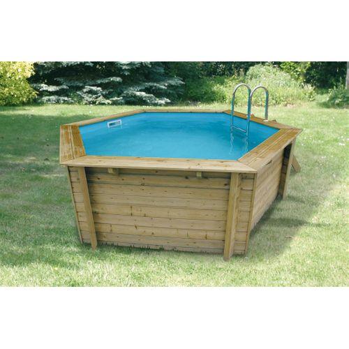 Ubbink houten opzetzwembad Azura Ø 410cm