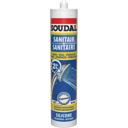 Soudal sanitaire silicone 'Express' wit 300 ml