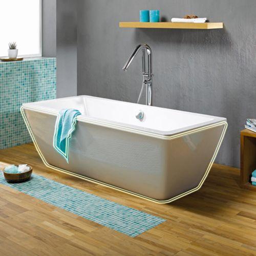 Voorzetwand badkuip 'Bermuda' wit 180 x 80 cm