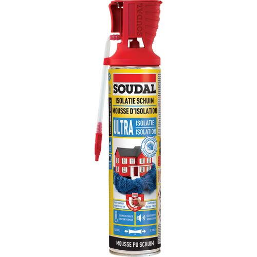 Mousse d'isolation Soudal 'PU Ultra' 500 ml