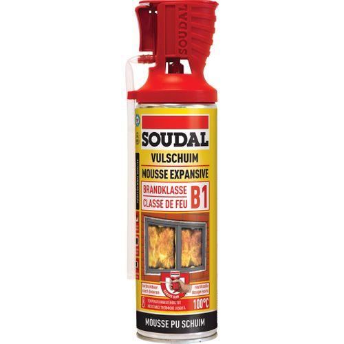 Mousse d'isolation Soudal Genius Classe de feu B1 500ml