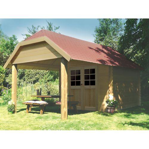 Solid tuinhuis Cork hout 298x298 + 265cm