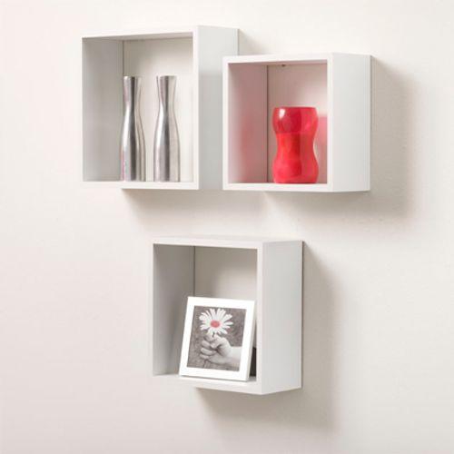 Etagère cube Duraline '3TC' blanc laqué 35 cm - 3 pcs