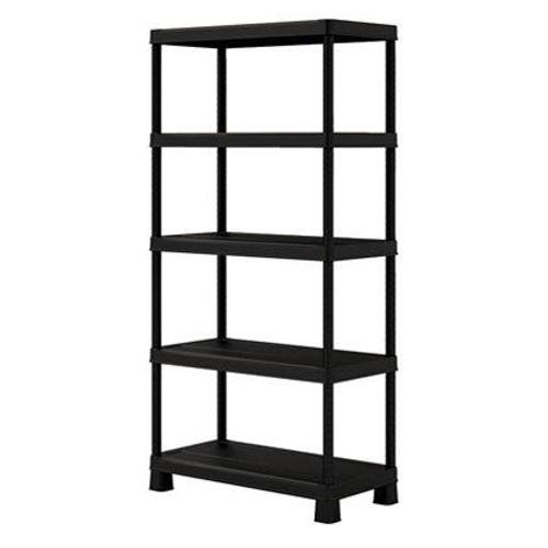 Kis rek 'Tribac' PVC zwart 45 x 90 x 182 cm