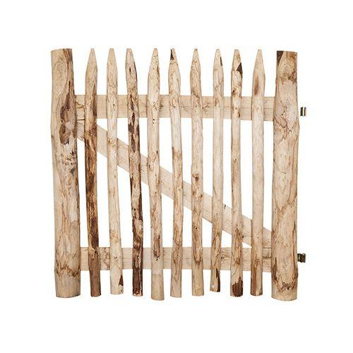 Porte de jardin Cartri bois châtaignier naturel 100x100cm