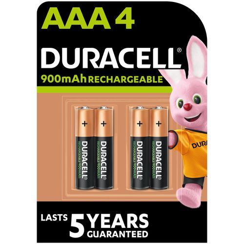 Duracell oplaadbare batterij 'AAA - LR03' 1,2 V - 4 stuks