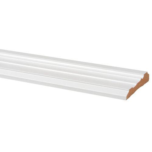 Deurlijst MDF wit classic 18x90mm 260cm