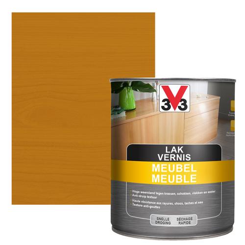 Vernis V33 Meuble Deco chêne rustique mat 1L