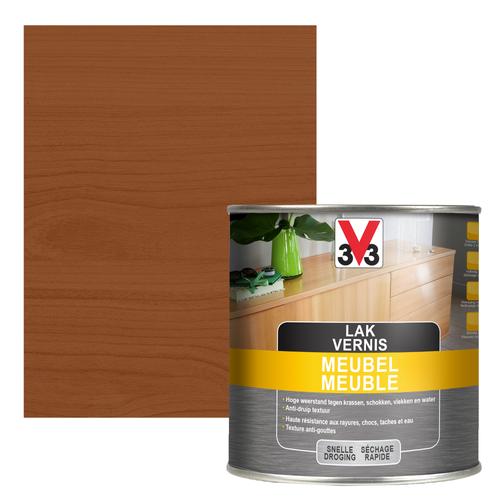 Vernis meuble V33 chêne foncé satiné 500ml