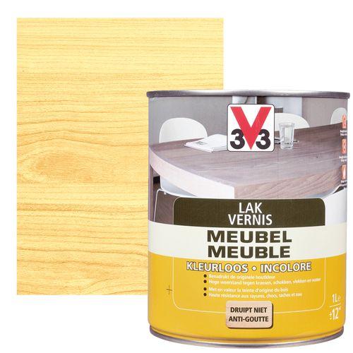 V33 meubellak transparant zijdeglans 1L