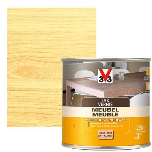 V33 meubellak transparant zijdeglans 250ml