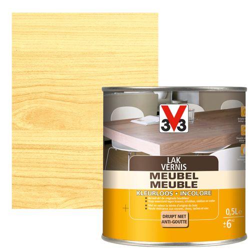 V33 meubellak transparant hoogglans 500ml