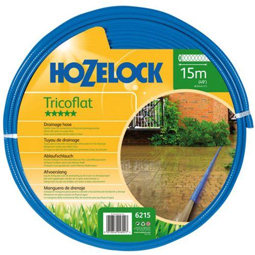Hozelock Tricoflat afvoerslang 15 meter, diameter 25 mm
