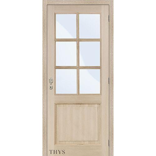 Bloc-porte Thys 'Concept S1 Modèle 11 Glass' chêne 83cm