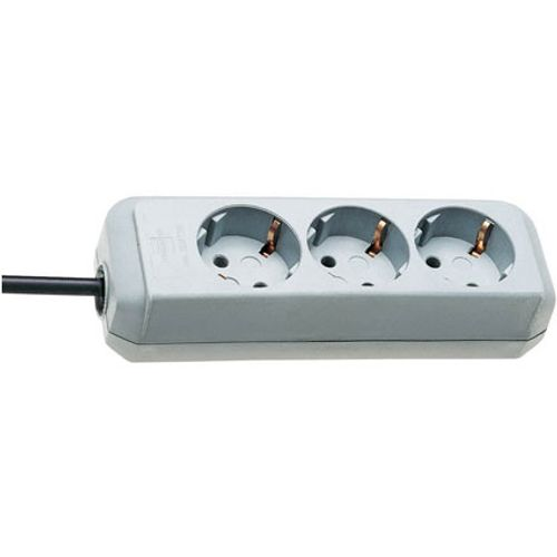 Brennenstuhl stekkerdoos eco-line 3-voudig lichtgrijs 1,5m H05VV-F 3G1,5