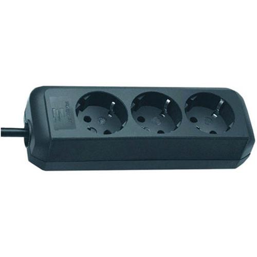 Brennenstuhl stekkerdoos eco-line 3 voudig zwart 1,5m H05VV-F 3G1,5