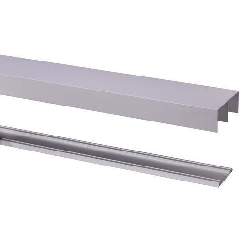 Storemax rail met geleider R40 voor rollende deur alu 240cm max 40kg