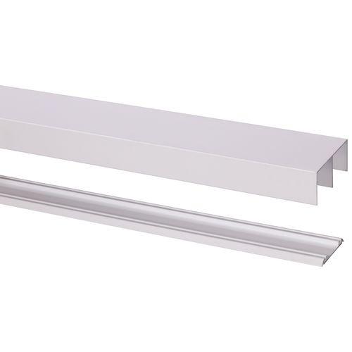 Rail avec guide R40 pour porte roulante Storemax blanc 240 cm max 40 kg