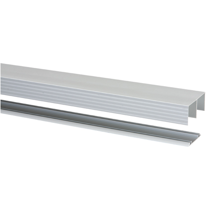 Storemax rail met geleider R40 voor rollende deur alu 360cm max 40kg