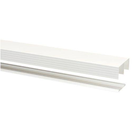 Storemax rail met geleider R40 voor rollende deur wit 360cm max 40kg