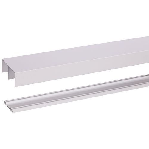 Rail avec guide R40 pour porte roulante Storemax blanc 180cm max 40kg