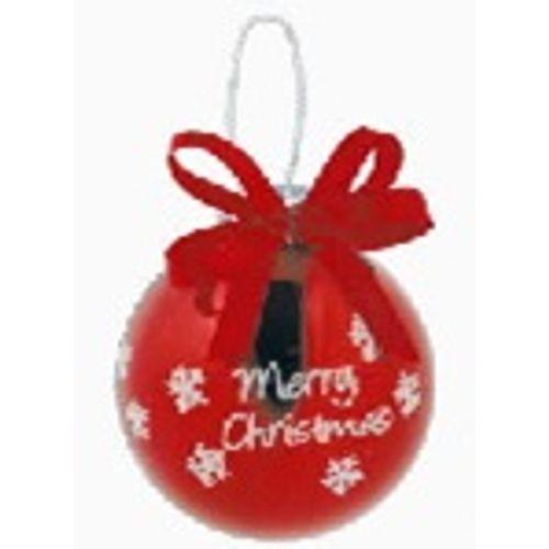 Boule de Noël Xmas rouge 6,5cm