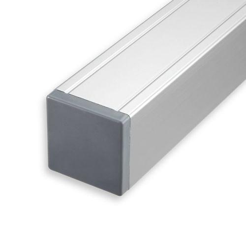 Tuinpaal aluminium met kap 6,8x6,8x135cm