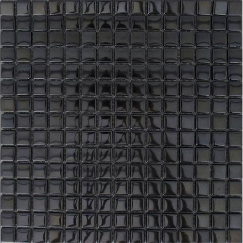 Mozaïek tegel Noche mirror zwart 30x30cm
