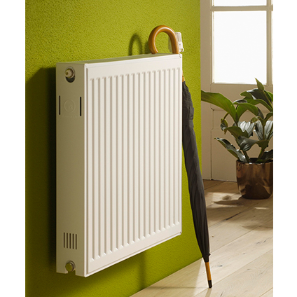 Radiateur chauffage central Haceka 'Duo' blanc 60x60cm