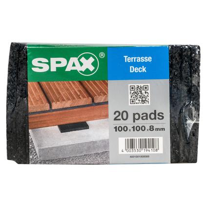 Spax isolatie pads Terras 10 x 10 x 0,8 cm - 20 stuks