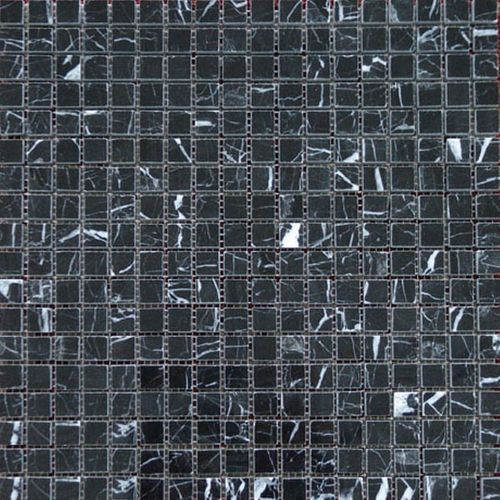 Mozaïek tegel Marquina zwart 30,5x30,5cm
