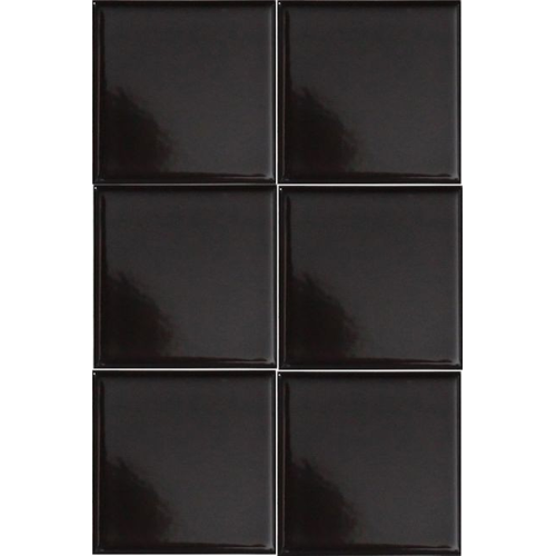 Wandtegel zwart glans 10x10cm