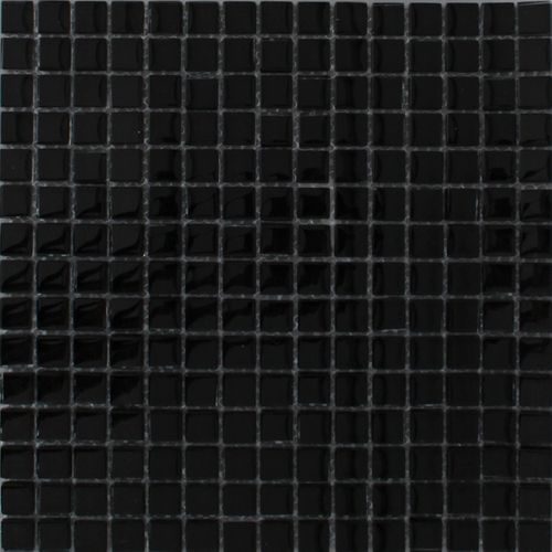 Mozaïek tegel Noche zwart glans 30x30cm