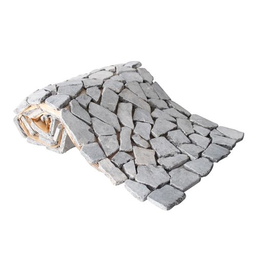 Mozaïek tegelvel Beachstone antraciet 34x150cm