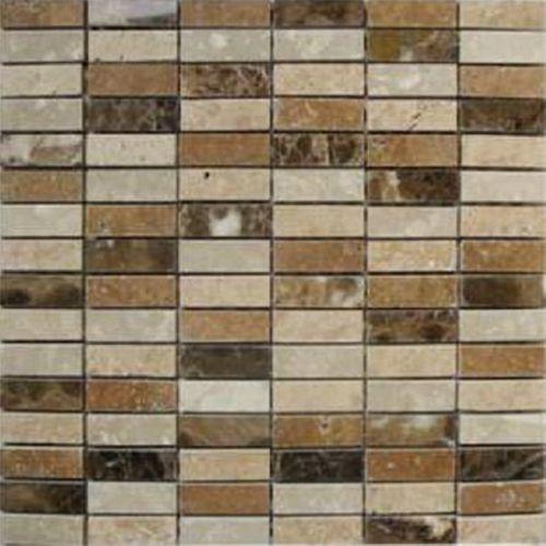 Mozaïek tegel Madrid mix bruin 30,5x30,5cm