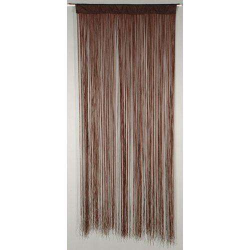 Deurgordijn 'String' bruin 2 x 0,9 m