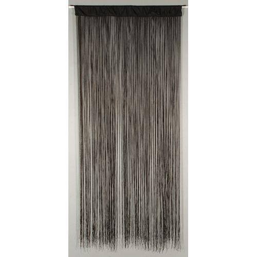 Deurgordijn 'String' zwart 2 x 0,9 m
