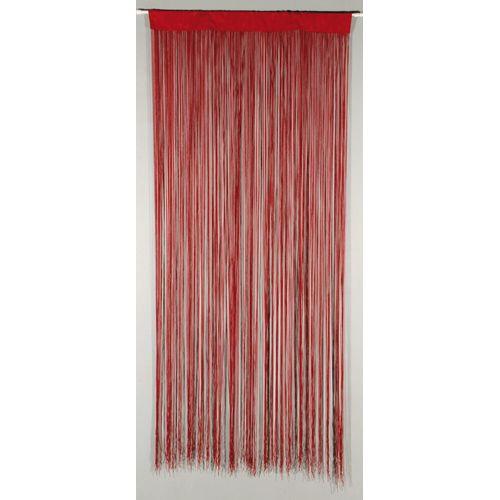 Deurgordijn 'String' rood 2 x 0,9 m