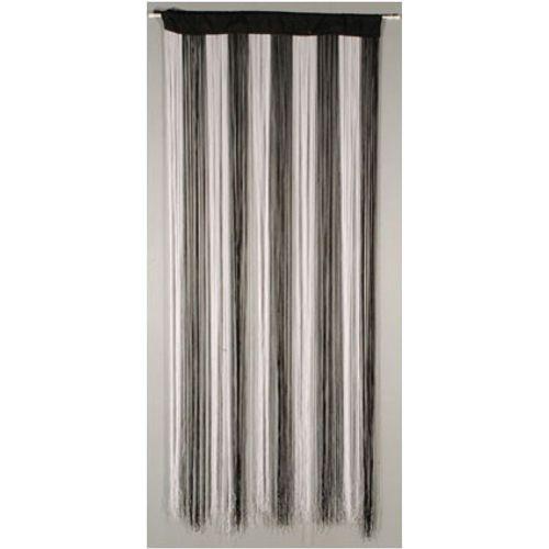 Deurgordijn 'String' wit/zwart 2 x 0,9 m
