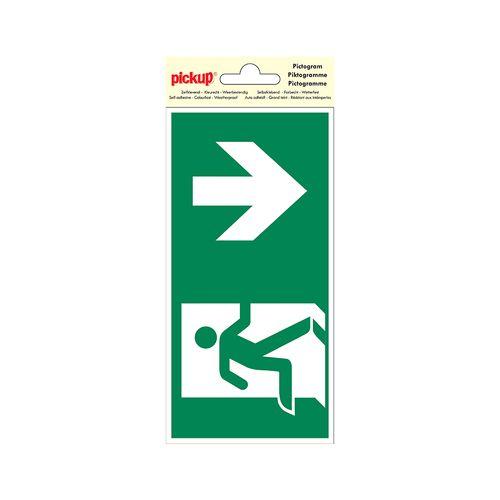 PickUp pictogram 'Nooduitgang omlaag'