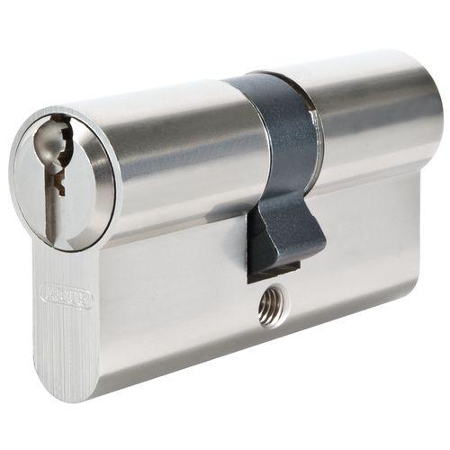 Cylindre de porte Abus 'E50N' nickelé 30 x 50 mm
