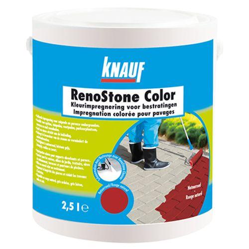 Impregnation colorée Knauf 'RenoStone Color' rouge 2,5 L