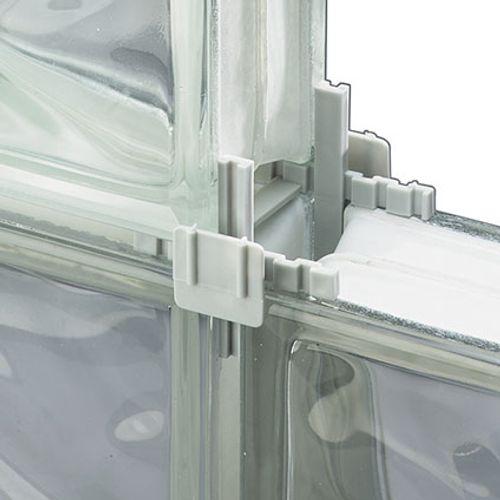 Glazen bouwsteen afstandhouder