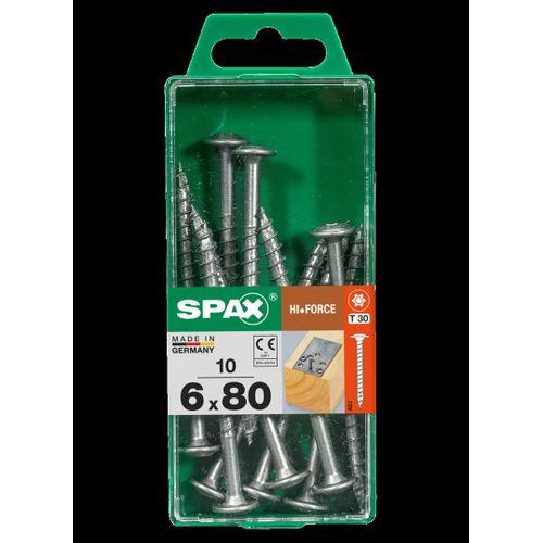 Spax schroef HI.Force staal 80 x 6 mm - 10 stuks