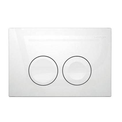 Geberit bedieningspaneel Delta21 dual flush mat wit 16,4x24,6cm