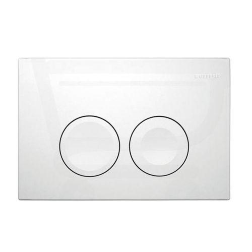 Geberit bedieningspaneel Delta 21 dual flush glanzend wit 16,4x24,6cm