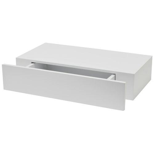 Tablette murale Duraline 'XL10' tiroir blanc 48 cm