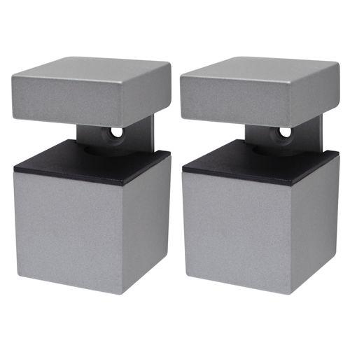Duraline plankdrager 'Cube' verzilverd