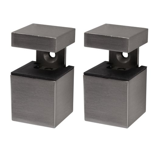 Support pour étagère Duraline Clip Kubus mini nickel brossé